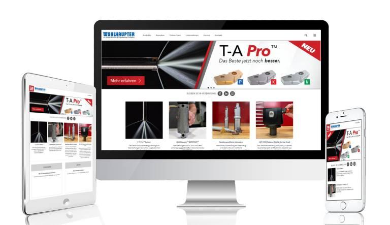 Die neue Website der Wohlhaupter GmbH.