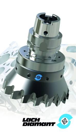 """Der Lach Diamant Monoblock-Fräser »dia-compact« ist sofort einsatzfertig durch Plug-and-play sowie mit oder ohne Option """"cool-injection"""" lieferbar."""