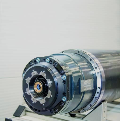 Die eigens von Grob entwickelte Spindel mit HSK-A100 und 340 Nm ist durch ihren speziellen Aufbau sehr robust und für universelle Einsatzzwecke geeignet. (Alle Bilder: Grob-Werke GmbH&Co.KG)