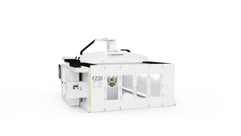 Die komplett neuentwickelte Maschine FZP32: Die 5-Achs-Portalfräsmaschine ist kompakt, sehr flexibel – und hochgenau.