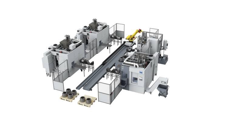 Ein perfekt abgestimmtes und auf maximale Produktivität ausgelegtes System aus einer Hand. Maschinen, Roboterhandling & Automationsablauf bis hin zu Peripherie, Spannmitteln, Werkzeugen und Technologie – alles optimiert von den Experten von Emag.