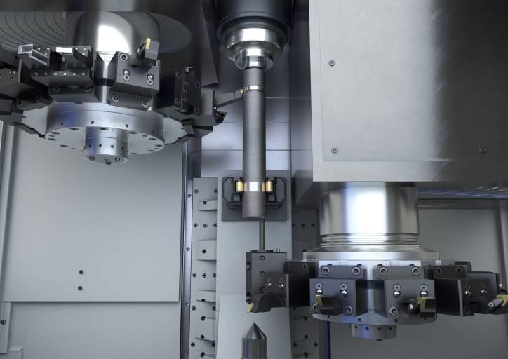 OP 10/20 – Vordrehen an zwei VTC 200 von Emag – eine perfekte Lösung für die vierachsige Wellenbearbeitung mit reduzierten Hauptzeiten.