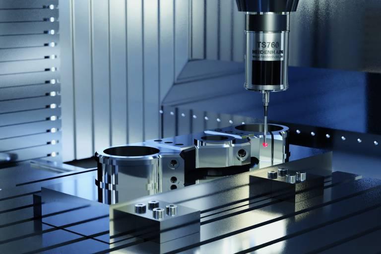 Neu zur EMO 2021: Das Tastsystem TS 760 tastet Werkstücke mit besonders hoher 3D-Genauigkeit und sehr geringen Kräften an.