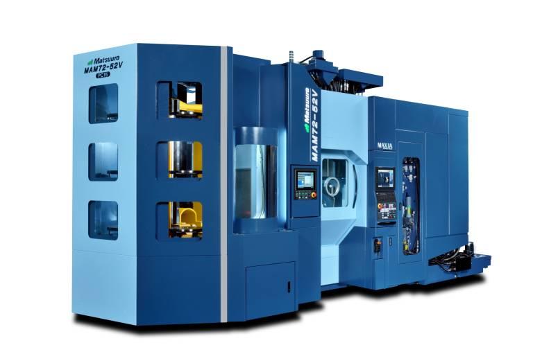 Das 5-Achsen-Vertikal-Bearbeitungszentrum MAM72-52V ist optimal für die mannlose und flexible Fertigung von kleinen und mittleren Losgrößen geeignet.
