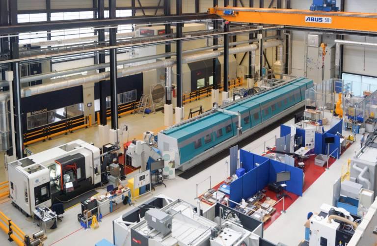 Das Nuclear AMRC verfügt über eine 5.000 m² große F&E-Werkstatt.