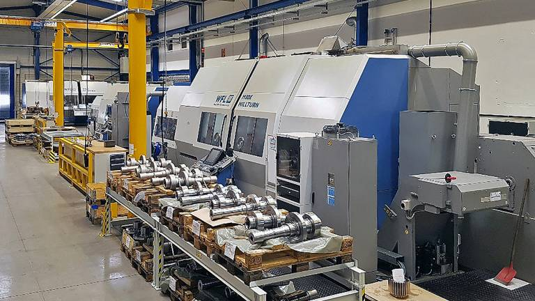 Auf der M80X MILLTURN werden bei Desch aktuell verzahnte Hohlwellen für Getriebe gefertigt.