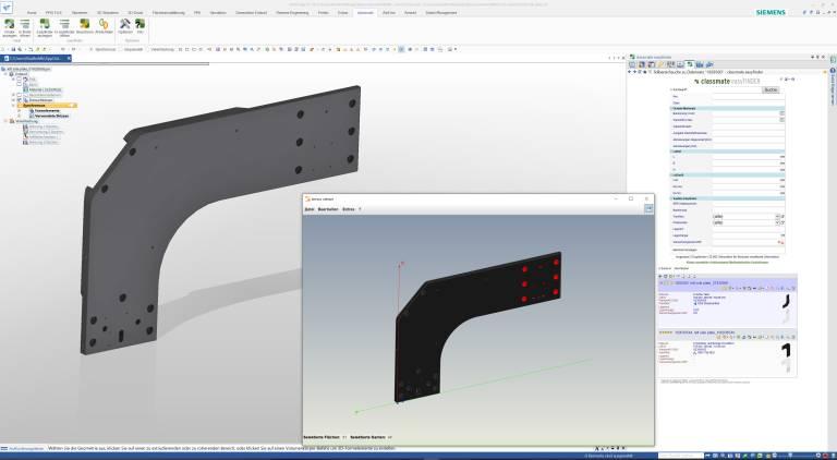 Mit der geometrischen Teilbereichssuche lassen sich zum Beispiel kundenspezifische Werkzeuge schneller finden. (Screenshots: simus systems)