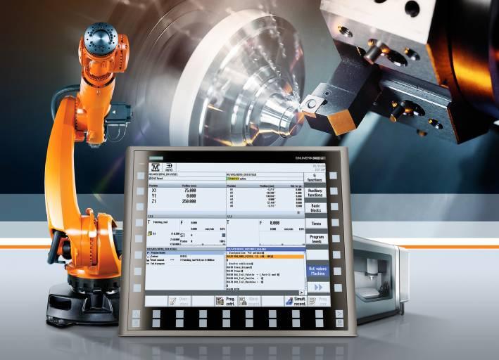 Run MyRobot von Siemens bietet eine nahtlose Integration von Roboter und Werkzeugmaschinen in die CNC-Steuerung.