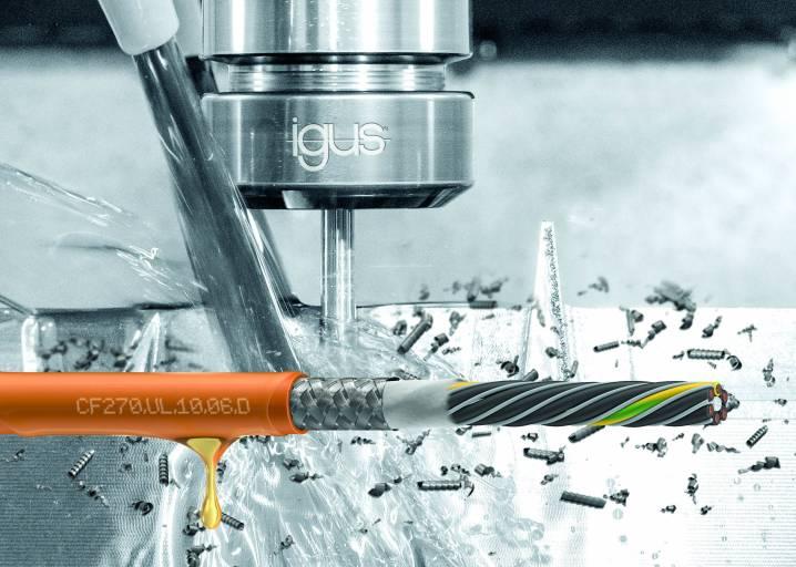 Die neue chainflex-Servoleitung ist speziell für den dynamischen Einsatz an Fanuc-Antrieben in Werkzeugmaschinen entwickelt.