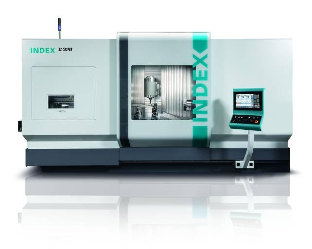 Das Dreh-Fräszentrum INDEX G320 bietet eine maximale Drehlänge von 1.400 mm und ermöglicht vollwertiges 5-Achs-Fräsen.