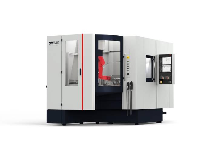 Das zweispindlige Bearbeitungszentrum BA W02-22i mit Linear- und Torquemotoren sowie integrierter Automation ermöglicht auf nur vier Quadratmetern Aufstellfläche die Fertigung komplexer Werkstücke in hoher Präzision.