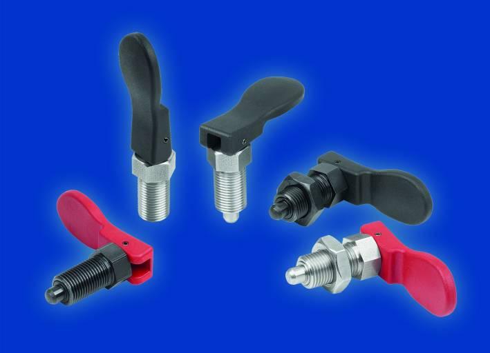 Die neuen Arretierbolzen mit Exzenterhebel von Kipp sind praktisch und ergonomisch in der Handhabung.