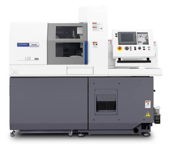Der automatische Werkzeugwechsler ATC ermöglicht auf der Cincom L20-XII ATC in Verbindung mit der B-Achse über ER 16-Werkzeugaufnahmen die schnelle Nutzung von insgesamt 13 Werkzeugen für die Vorderseitenbearbeitung.