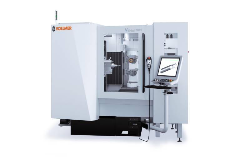 Auf der EMO in Mailand zeigt Vollmer zum ersten Mal seine Werkzeugschleifmaschine VGrind 360S der internationalen Öffentlichkeit.