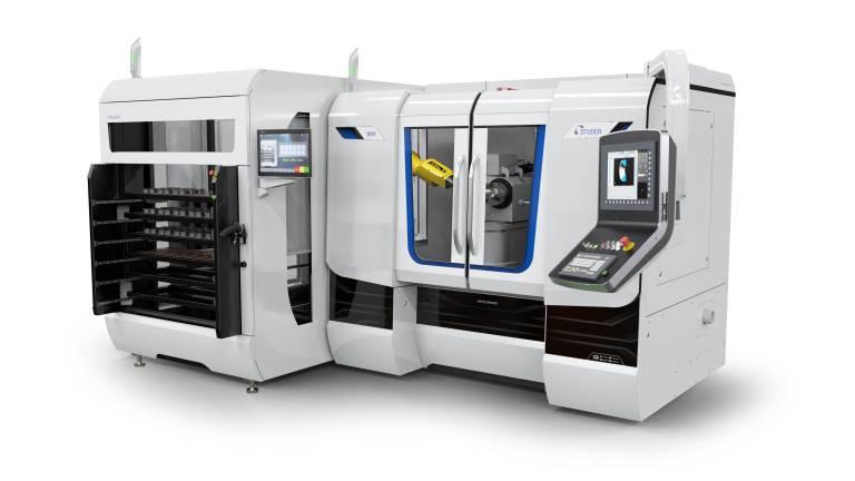 Mit dem roboLoad stellt Studer ein neuartiges Ladesystem für CNC-Radien-Innenrundschleifmaschinen vor. Im Bild: Studer Radien-Innenrundschleifmaschine S131 Radius mit Ladesystem.